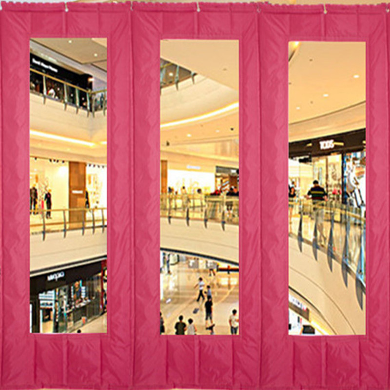 Enclosed air conditioner transparent plastic cotton door curtain, thickening heat insulation sound insulation cold storage curtain, Waterproof Winter canvas partition