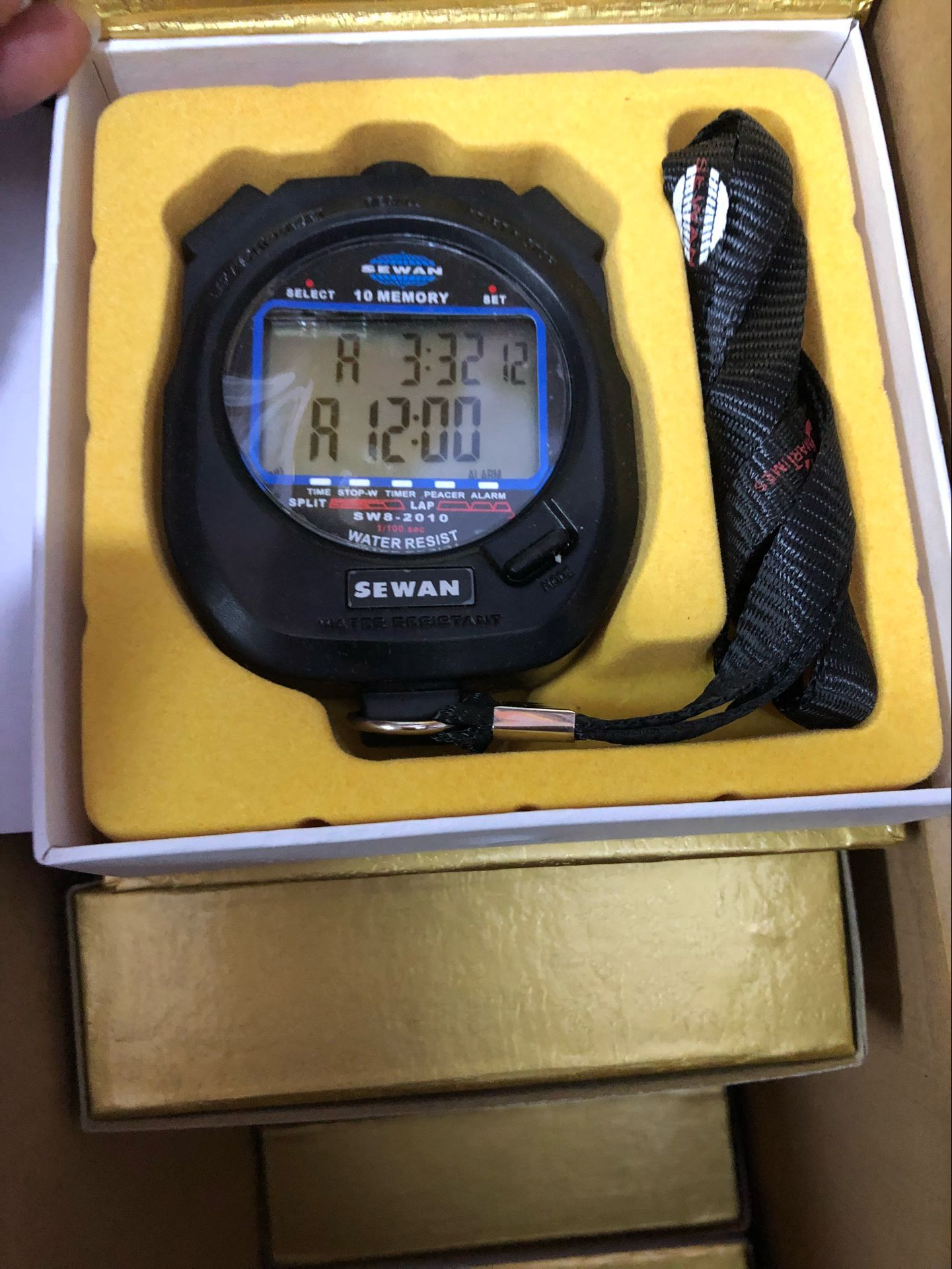 Kappa: brand professional electronic stopwatch display 10 row 30 memory Sport Timer