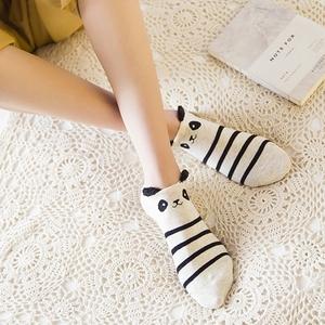 5双船袜女纯棉可爱学生夏季单鞋短袜子浅口防臭吸汗运动立体