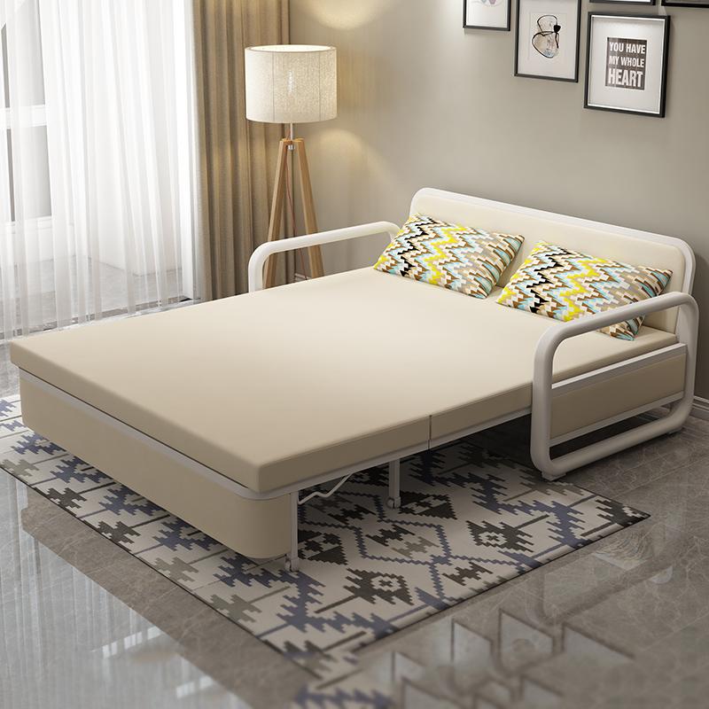 πολυλειτουργική καναπέ - κρεβάτι ολόκληρο σαλόνι 1,2 m και διπλό 1,5 m πτυσσόμενο καναπέ - κρεβάτι το μικρό μέγεθος του λατέξ