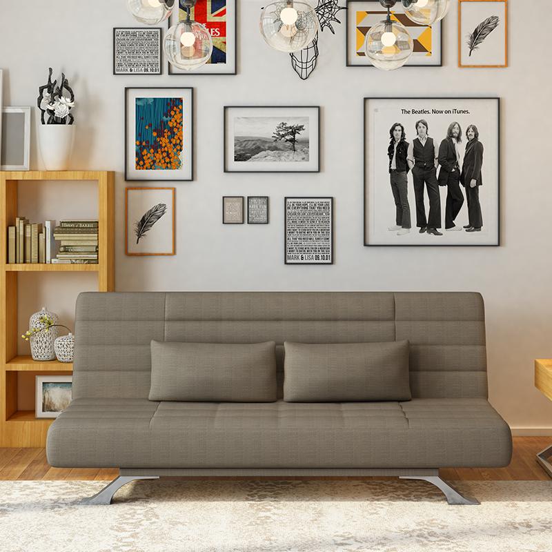 Οι σκανδιναβικές πολυλειτουργική ξύλινα πτυσσόμενο καναπέ - κρεβάτι καναπέ - κρεβάτι 1,8 1,5 m μικρό διαμέρισμα καναπέ να μπορούν να πλένονται 1.2