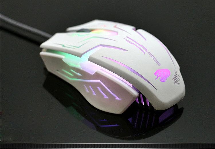 Cable mechanical gaming mouse Razer notebook computer gaming Wrangler USB home CF metal luminous LOL