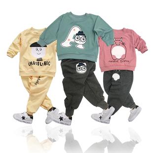 儿童童装男童春秋款套装运动卫衣男孩两件套春秋装中小童卫衣休闲