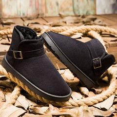 新款雪地靴男士冬季加绒保暖大码棉鞋男女学生韩版加厚防滑棉靴子