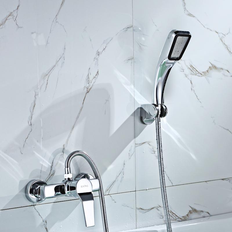 Einfache dusche, dusche, kalten und warmen wasserhahn Rohr Kupfer - BASIS DAS ventil bad, Dunkle kleidung.