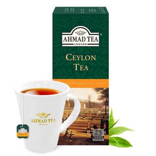 英国亚曼AHMAD TEA斯里兰卡锡兰红茶 奶茶专用阿萨姆袋泡茶包25包