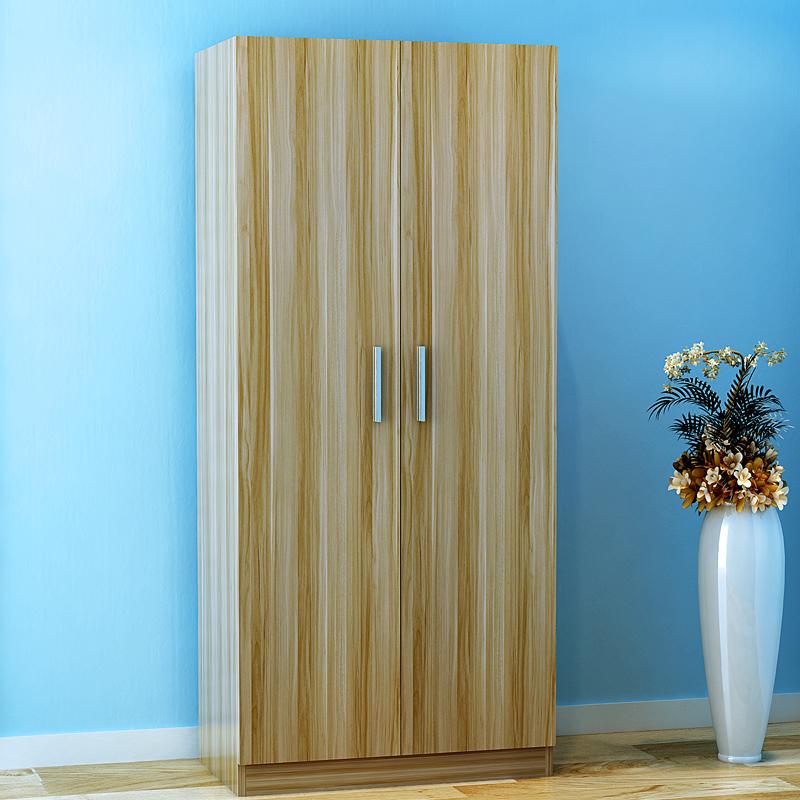 Simple de bois de bois penderie moderne simple assemblage de stockage porte 3 4 2 porte de porte grande armoire d'enfants.