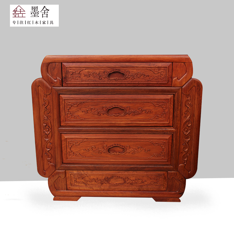 Rosewood furniture of Chinese Wood New Chinese padauk Burma rosewood bed 1.8 meters double bedroom