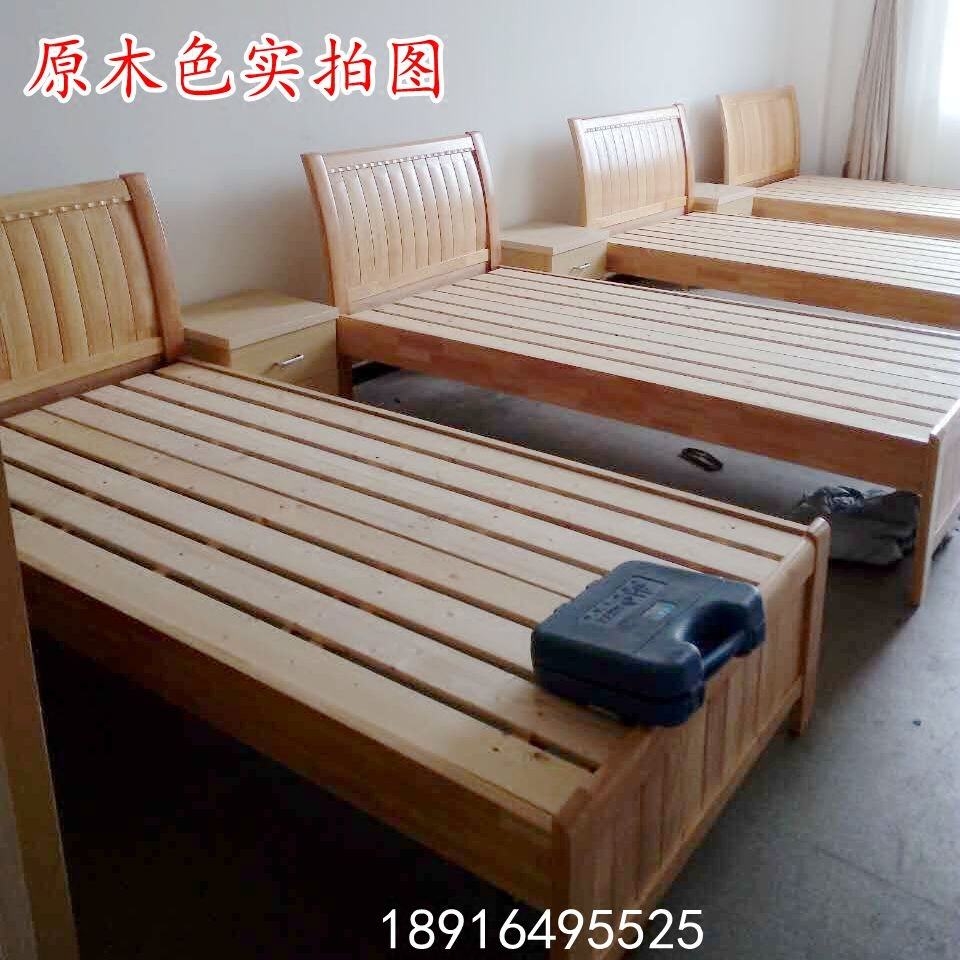 Solid oak bed single bed double bed small lifting bed three feet four feet foot half five Shanghai package parcel post installation
