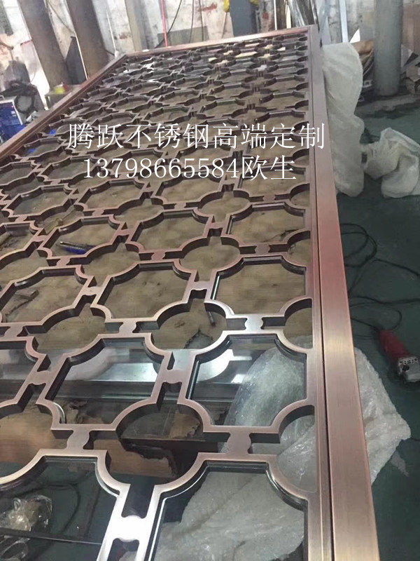 Direct selling stainless steel screen, aluminum carved screen partition, custom villa, simple aluminum carving