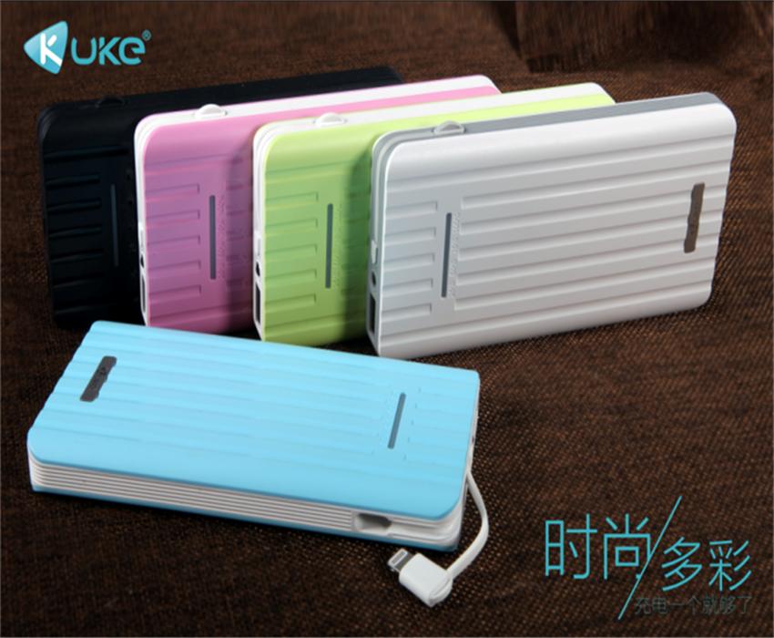 kuke 酷客K26冲充电宝10000毫安聚合物电芯1万毫安苹果线一体输出移动电源