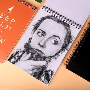 爱涂图素描本8K手绘图画本彩铅加厚素描纸美术专用线圈本绘画本