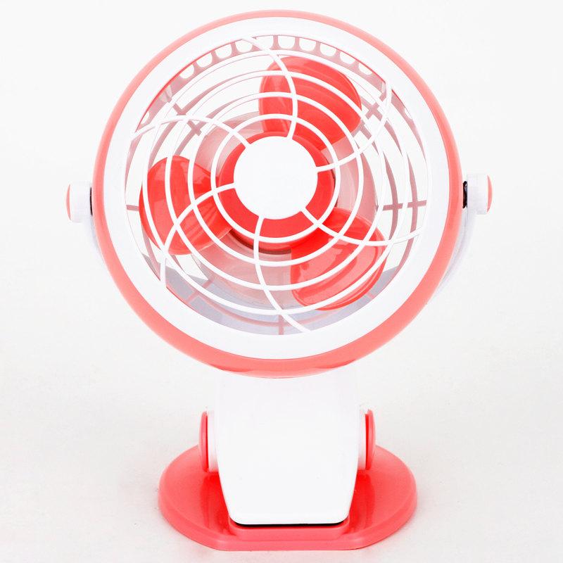 Deli 3683 Mini USB platform clip 4 inch small fan No. 5 battery, mini computer fan can clip can stand