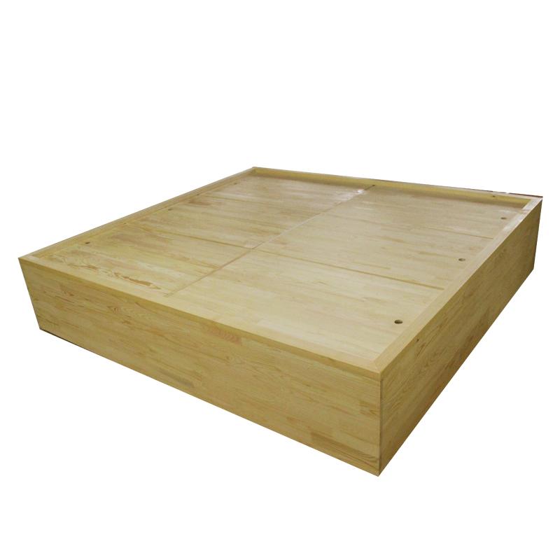 Tatami platform customized customized storage platform bed solid wood bookcase bookshelf combination Japanese bedroom whole study