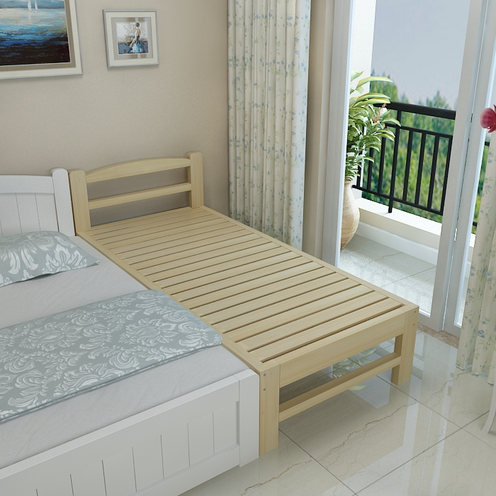 Wood crib stitching bed single bed plate double pine tatami widening splicing board lengthened bed