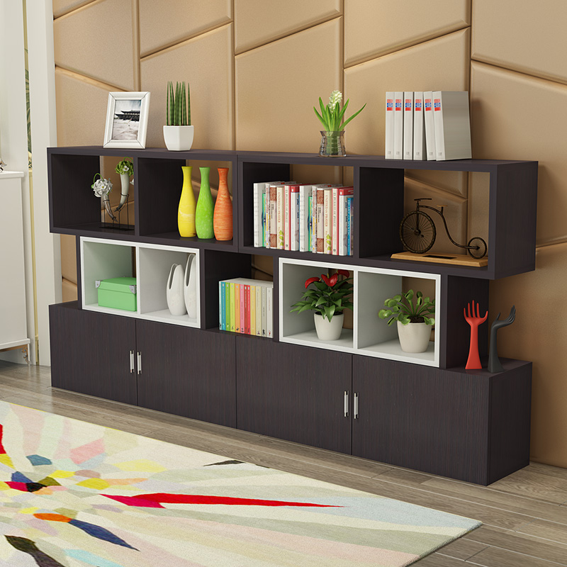 - biuro specjalne półki na półki biblioteczki przechowywania kontenerów nowoczesnym salonie podziału na pokaz.