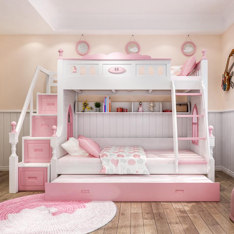 Alle Holz - kinder INS Bett Bett Bett doppelstöckigen Bett der prinzessin unter erwachsenen Mädchen - Bett