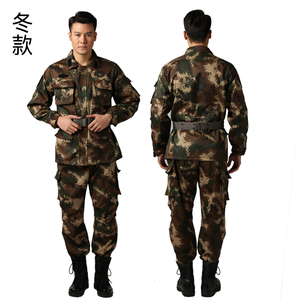 新款正品深绿色16式消防迷彩服夏迷彩新式冬季作训服套装