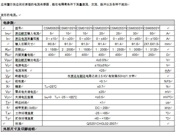 ١٠ التوازن المغناطيسي (مغلقة) قاعة الاستشعار الحالية CSM010SY 0-4V15V الناتج من امدادات الطاقة