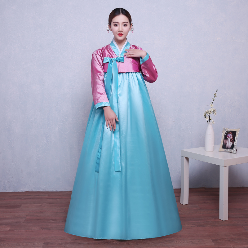Ethnic National: Korean Womens Traditional Gown Costumes Hanbok National