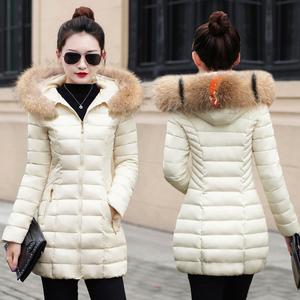 34韩版潮棉袄女2018冬季新款修身羽绒棉服加厚中长款棉衣冬装外套