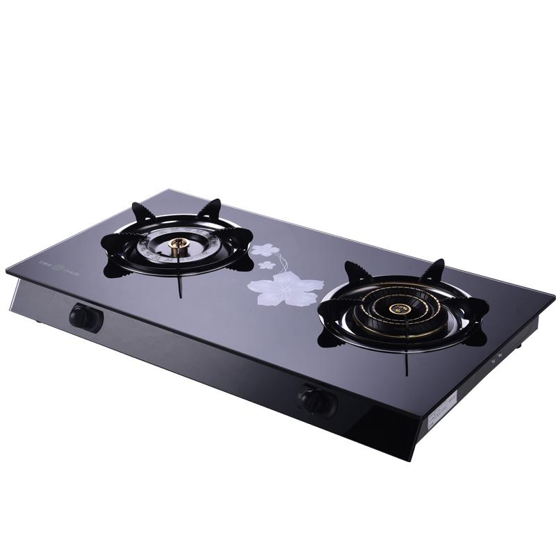 La Cucina a Gas per uso domestico di Risparmio energetico Speciale doppia Testa Gamma di gas di petrolio liquefatto, gas di Cucina di fuoco doppia Serie Desktop.