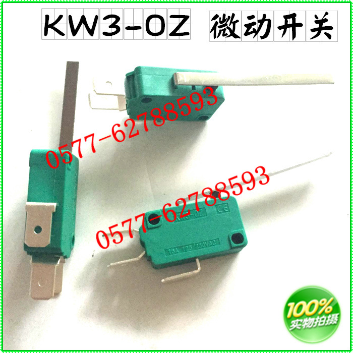 Micro switch KW3-0ZKW3-OZ three 3 foot three contact one open one silver contact