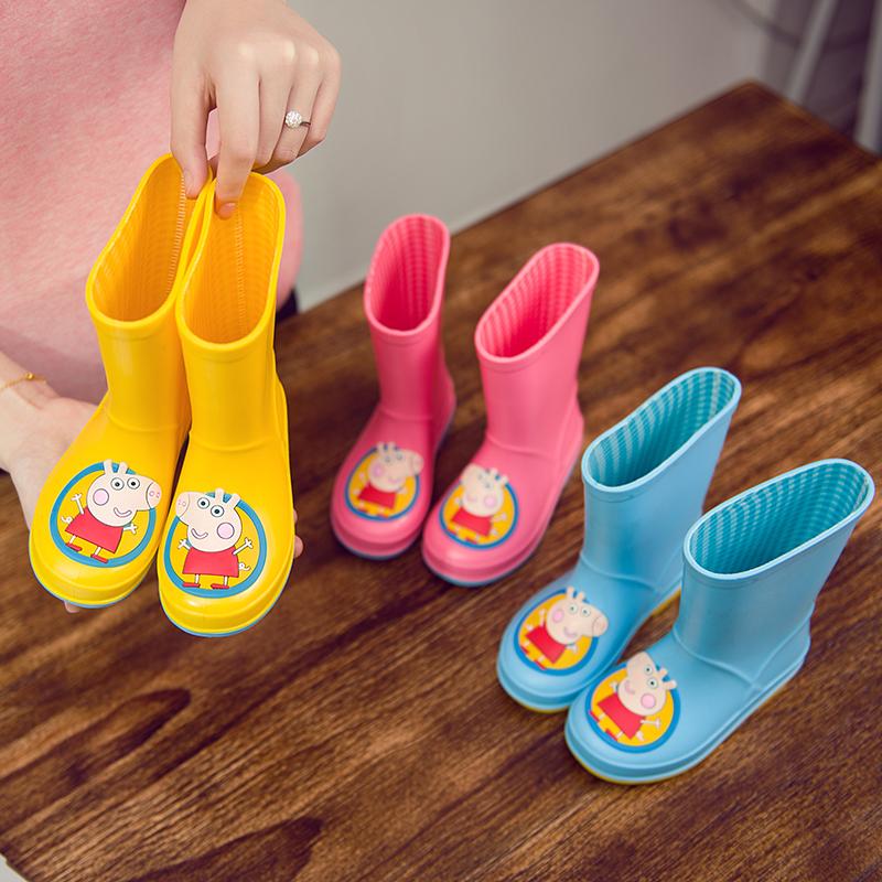 【天天特价】儿童雨鞋小孩防滑雨靴男女童公主胶鞋园学生中筒水鞋