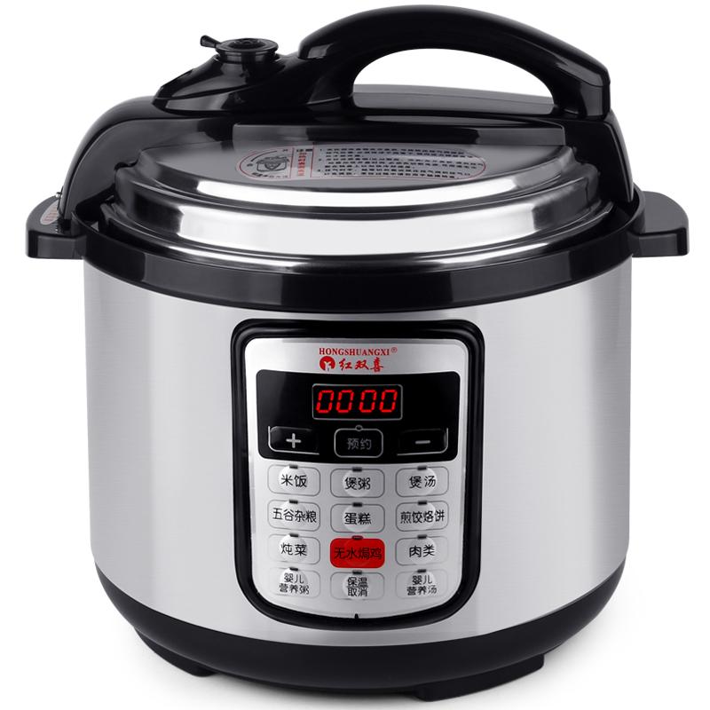 Autocuiseur électrique de la cuve haute pression Ding intelligent litres de cuiseur à double vessie de pression plat - réchaud poêle antiadhésive dortoir de pot d'arôme