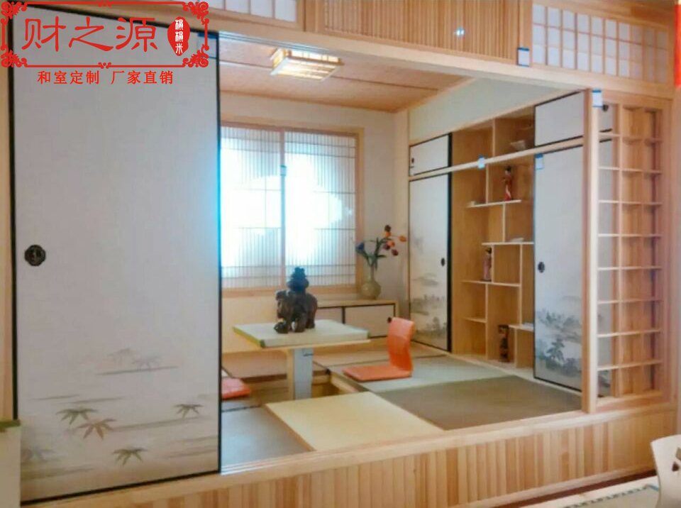 Shanghai is the source of wealth and Japanese tatami platform custom wardrobe bookcase cabinet customized TATAMY bed cabinet
