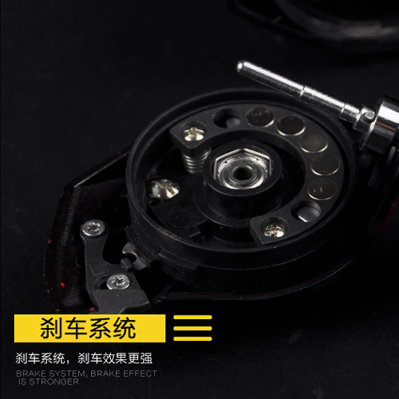 Explosion proof line sub round metal drops round shot round fish left / right hand wheel brake thunder Qianglun magnetic double drop