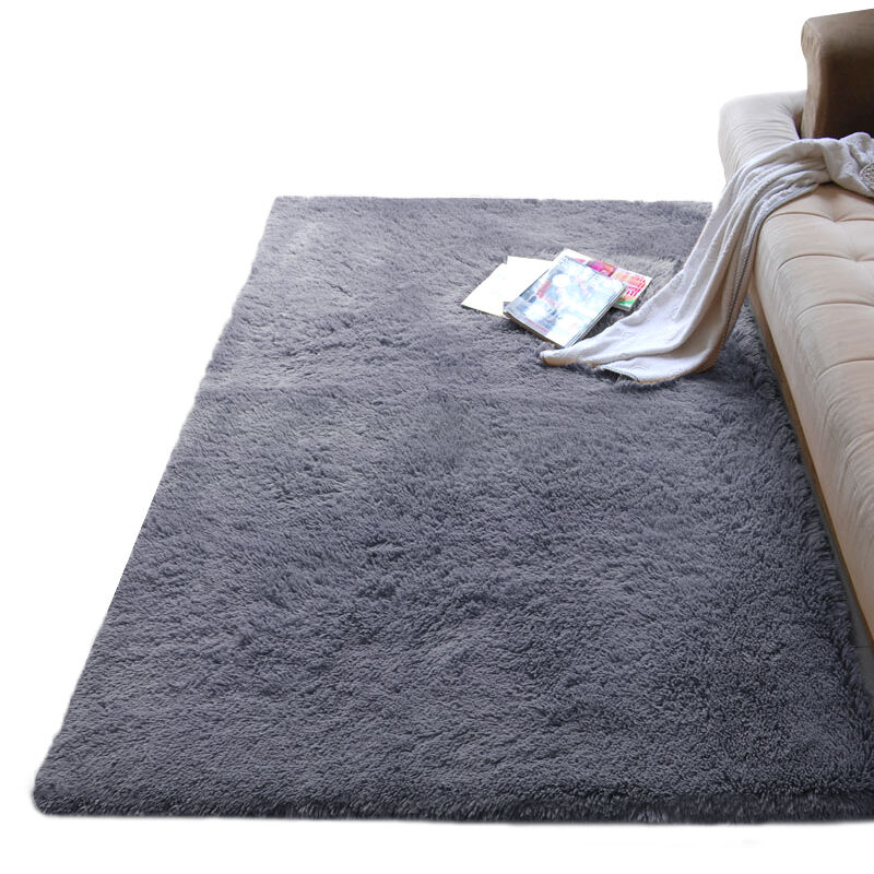 Thickened hair carpet covered with tatami room living room bedroom bedside photography green BLANKET RUG MAT