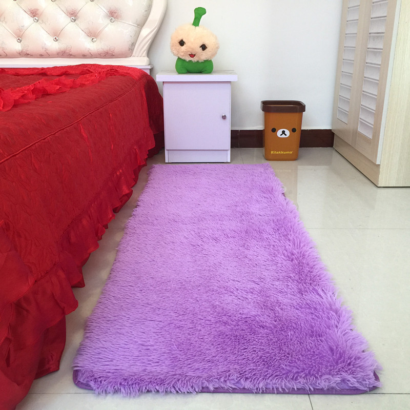 The living room side hall bathroom mats lovely super soft silk carpet can be customized anti-skid carpet mat bedroom bed
