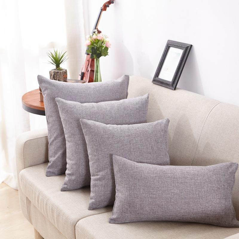 まねる亜麻リビングソファベッドのカラーが抱き枕オフィスクッションイケアシンプル現代クッションを含む芯セット
