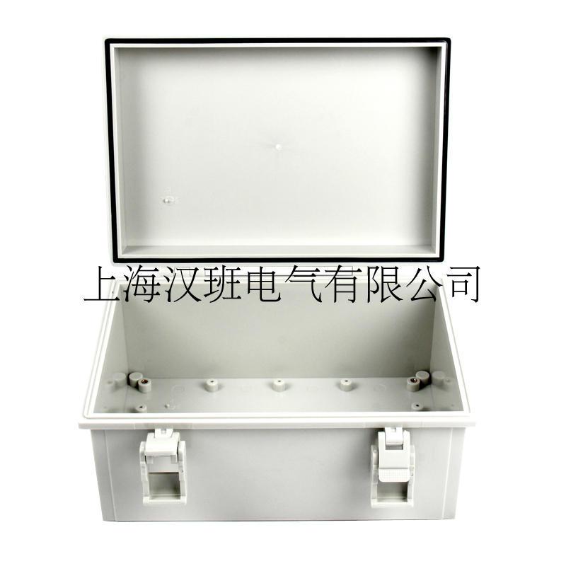 蝶番バックル防水ボックスが厚く型制御ボックス360 * 250 * 150 mmフリップ型プラスチック配線箱