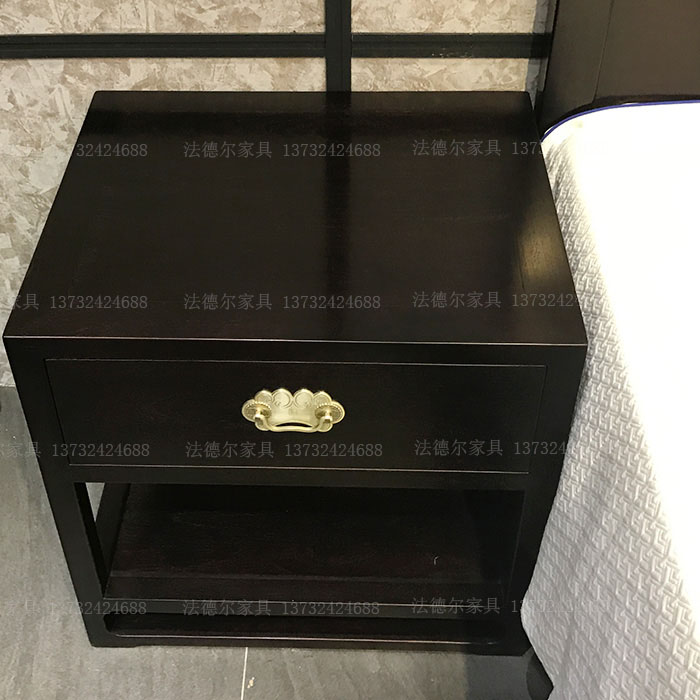 Modern solid wood 1.8 meters, 1.5 meters, Chinese style storage double bed, marriage bed, combination of small apartment, master bedroom furniture