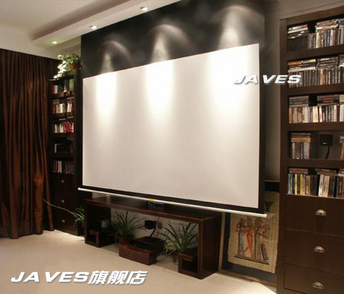 120 inch electric curtain 3D metal screen projector screen ...
