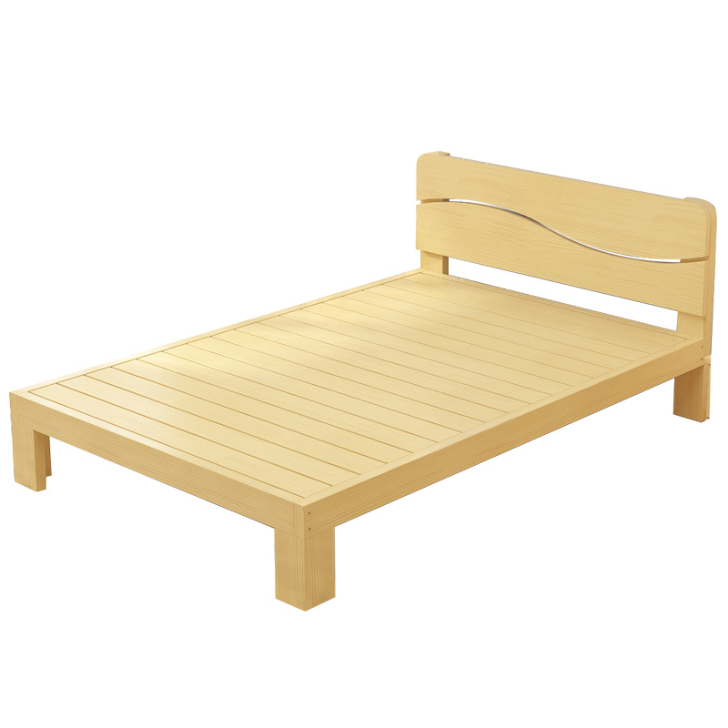 Mail solid wood bed, 1.8 meter bed frame, 1.5 meters board bed, double pine bed 1 meters, children bed 1.2 meters single bed