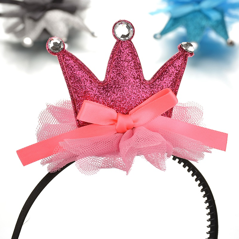 Crown Princess Cute Baby Hair Barrette children with tooth hairpin girls slip headdress jewelry