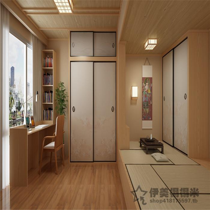 Shanghai Nanjing Hangzhou tatami platform customized wood platform bed cabinet and whole house custom custom
