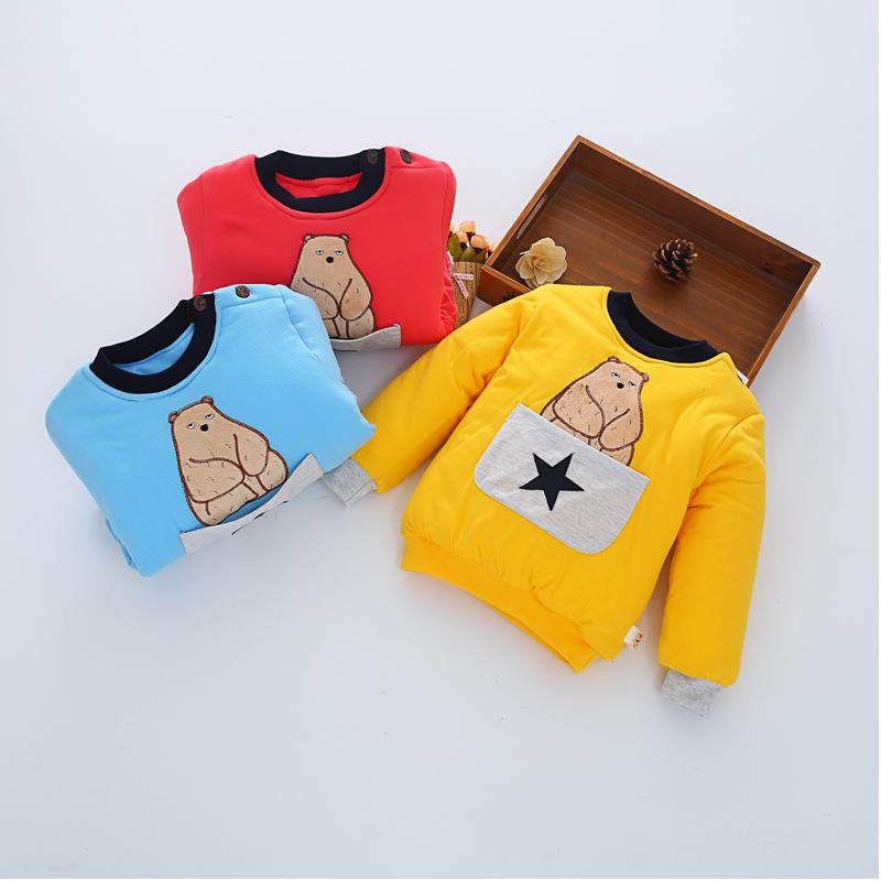 宝宝加厚幼儿童装秋冬季外套1-3岁 男女童棉内胆婴儿棉衣
