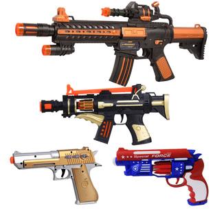 声光音乐儿童电动玩具枪模型男孩玩具长枪冲锋机关枪3-6宝宝玩具