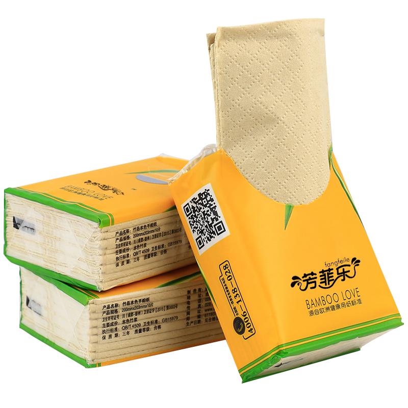 A Bela cor pacote especial de música todos OS DIAS SEM lenço lenço de Papel não branqueamento fluorescente 3 camada pacote portátil