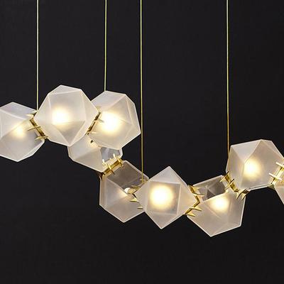 北欧后现代艺术吊灯客厅前台led个性简约创意几何格调餐厅灯具