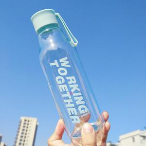 夏天小清新塑料水杯便携男女学生耐摔创意潮流杯子ins韩版随手杯