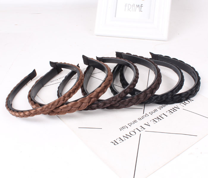 False twist pigtail wig with bangs female hoop Qi Liu invisible hair extensions issuing false head curtain thickening