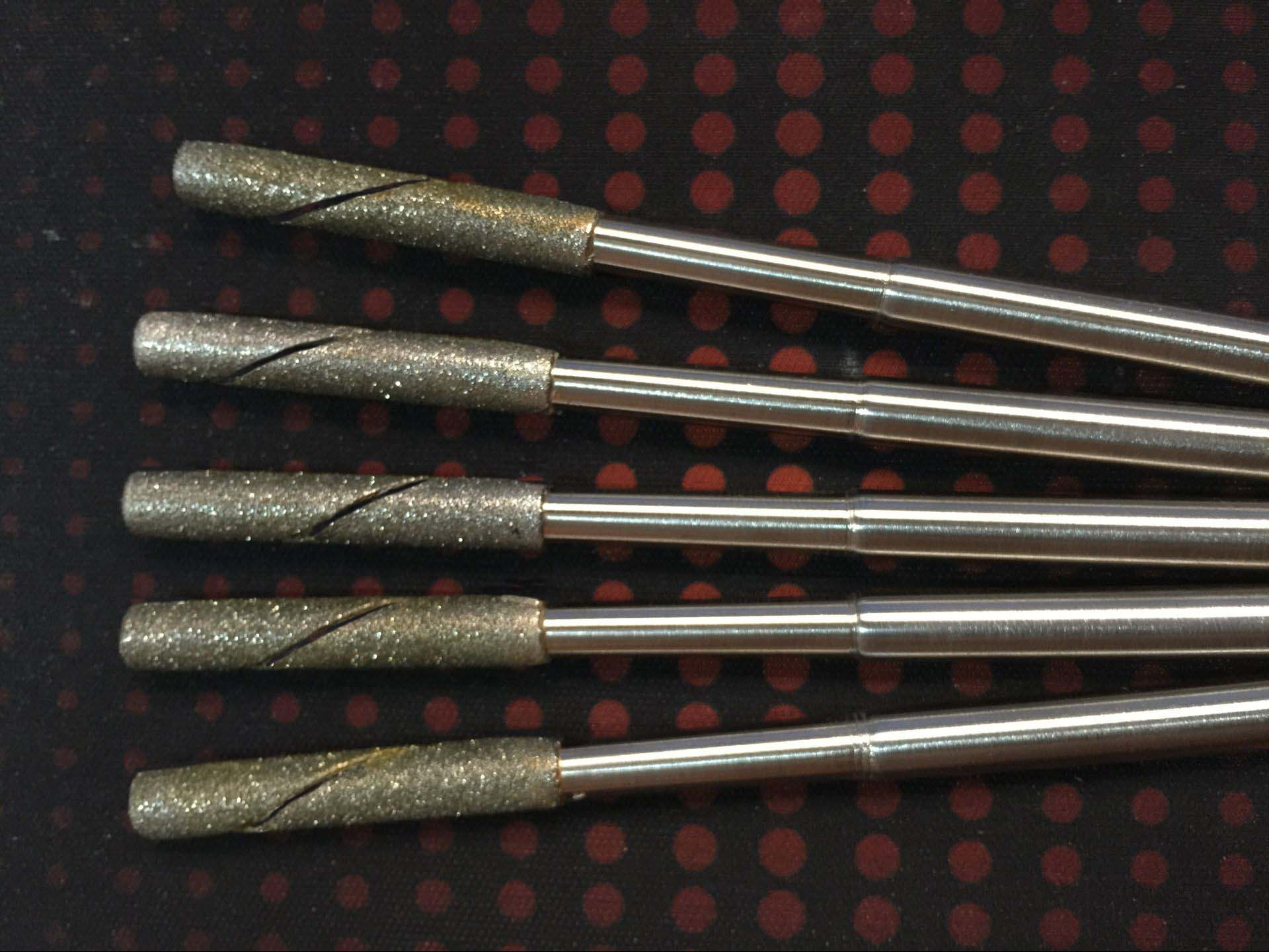 Quality adjustable diamond straight shank machine reamer grinding rod 4mm-10.5mm factory non-standard custom-made