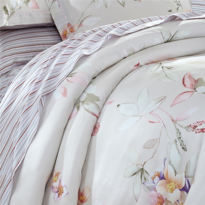 Hongkong glycididazo microgrid textile 100% double-sided 60 Tencel four piece 2017 new flower bed naked