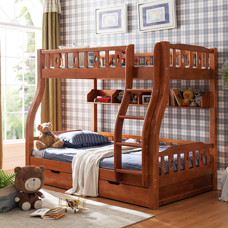 Get out of bed double bed bed bed height children mother adult double bunk beds two layers of pine wood