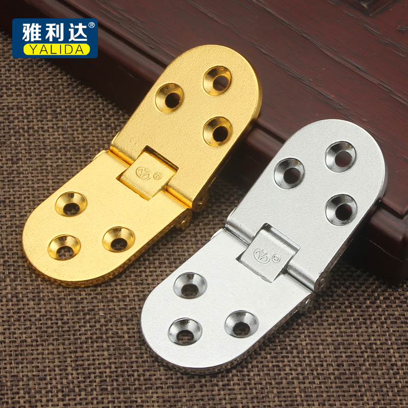 Zinc alloy thickening, turnover plate hinge, 180 degree folding table fittings, hinge hinge furniture, round table table turnover plate